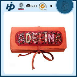 Chic design personalized leather pencil bag for childrens