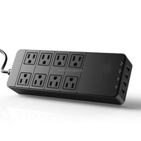 8 Outlets 110V Power Surge Protector Power Strip with 4 USB Ports