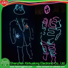 Glowing dance costumes EL wire costume