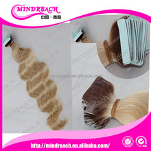 "Top quality virgin Brazilian tape hair 10""-30"" 100% unprocessed cheap wholesale tape hair extension"