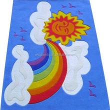Hot sale hand knotted silk rug best buy children music carpet for children