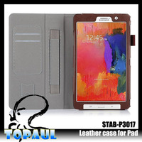 Leather folio stand 12.2 inch tablet case for samsung with handle