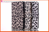 Factory new pattern magnetic closure leopard leather case for iphone 6