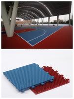 Plastic interlock basketball/volleyball/badminton/tennis court floor