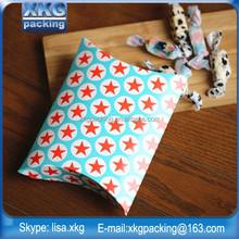 Popular paper pillow box,Custom logo packaging scaves pillow box