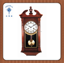 China Yantai Solid Wood Antique Wall Clock