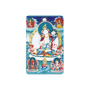 전문 사용자 정의 Cr80 골드 금속 카드 부처님