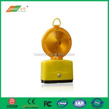 Double-sided display solar LED barricade light