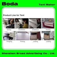 Promotion elaborate flat top folding canopy tent