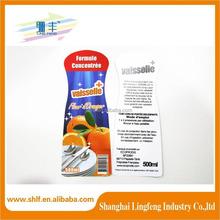 Dishwashing liquid label double-sided adhesive label printed