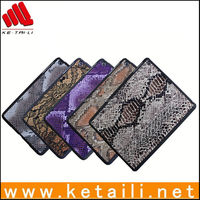 2014 New products Fashion cover for ipad air Plastic cover with fabric insert