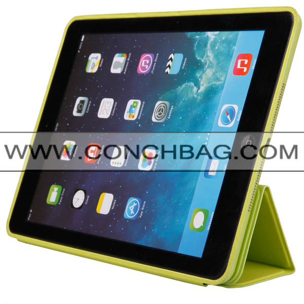 Original series strong magnet leather stand smart case cover for ipad air