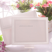 Latest Party Supply Embossed Simple Plain Wedding Invitation Cards