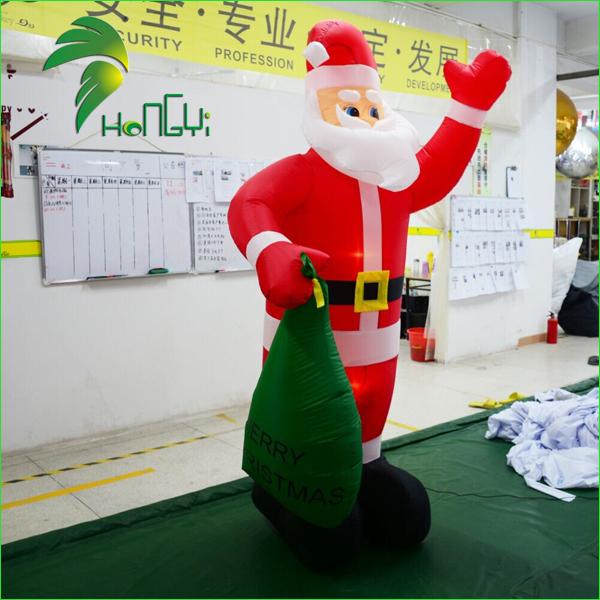 inflatable western christmas decorations santa (2)