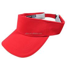 red visors/ polyester visor cap/ sun visor hat china supplier