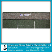Green Color Architectural Asphalt Shingles Roofing Materials