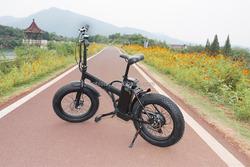 Foldable fat tire bicicletta elettrica 20inch pocket bike