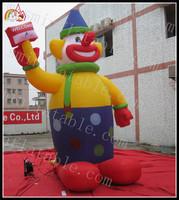 crown advertising cartoon / advertising crown character / cute inflatable crown cartoons