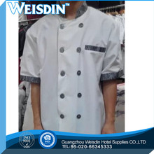 long sleeve black color and white color stud buttons executive chef coat chef jacket chef uniforms