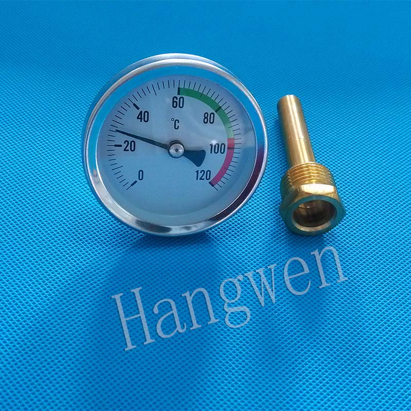 Industrial bolier bimetal thermometer with thermowell