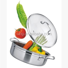 high quality stainless steel stock pot with glass lid hot pot for restaurant
