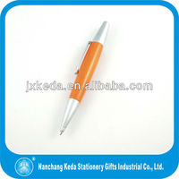 2014 Fashion Online Satin Silver Short Wooden Ball Pen