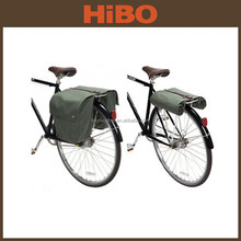 2015 new style waterproof canvas motorcycle bicycle saddle bags