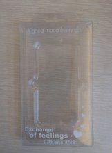 clear plastic packing box for mobile phone case