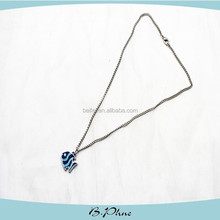 Fashion design simple silver long thin chain necklace for girls