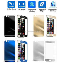 New 0.3mm Mirror Colored Tempered Glass Film Screen Protector for iPhone