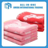 colered animals printed soft 100% cotton face towel