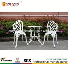 Mesa de estilo mariposa silla muebles de aluminio