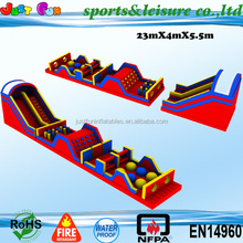amusement park equipment commercial grade giant adult inflatable obstacle course for sale