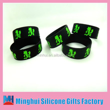 """Custom 1"""" debossed in filled Silicon Wristband/wholesale custom bulk silicone band /silicone gift"""