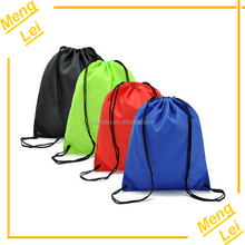 wholesale 100% polyester waterproof printed sports shoe drawstring bag