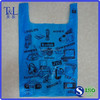 Bag! Shopping Plastic Bag! Cheap price printing shopping t-shirt plastic bag for food packaging