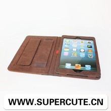 Lovely book style leather case for iPad mini from guangzhou factory