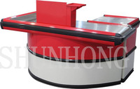 Round Corner Checkout Counter with Keyboard holder