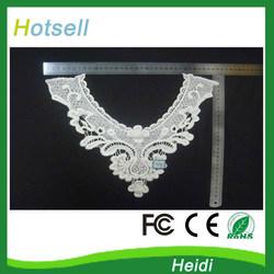 35cm x 30 cm small flower white cotton collar kurti