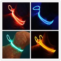 100pcs Cute dog accessories Flashing glow pet Dog Blinker Flashing LED dog Light Tag Safety necklace Collar DP-004