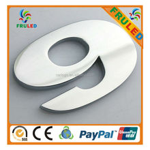 plastic chrome plated door number
