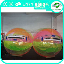 2015 top sale inflatable hamster ball pool toys, water ball walking, plant water ball