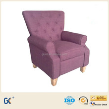 Cheap and good quality wooden fabric recliner sofa for one person