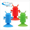 Silicone mobile phone suck holder/silicone animal shape phone stand in Android shape