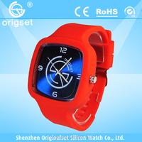 Latest Silcione Watch 5ATM Waterproof Japan Movement Customs logo best cheap watches