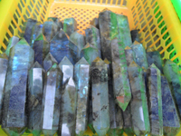 natural double terminate labradorite crystal wands points good quality labradorite stone point double terminated quartz crystals