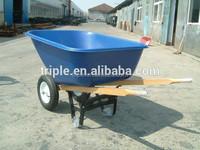 large American garden wheelbarrow with two wheels