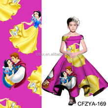 95/5 Custom Digital Printing Cotton Lycra Fabric For Kids