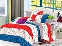 stripe style bedding set 70gsm polyester mircofiber duvet cover bed sheet pillowcases