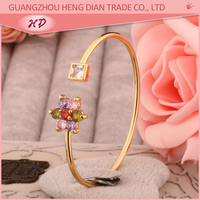 New style fancy yellow gold plated Fashion bracelets bangles models dubai